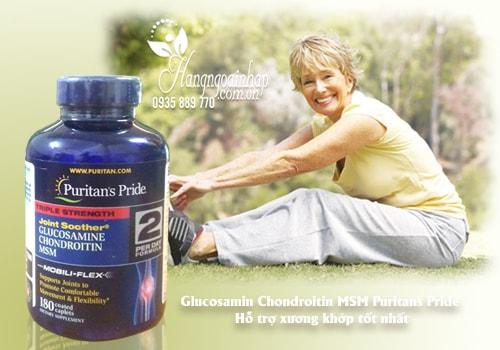 Viên uống Puritan's Pride Glucosamine 180 viên hỗ trợ xương khớp