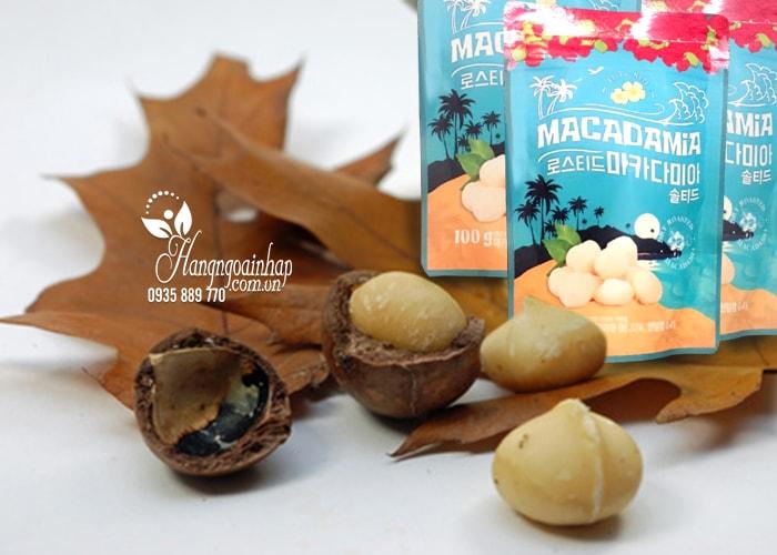 Hạt mắc ca tẩm muối Macadamia Aloha Nuts 100g của Nhật