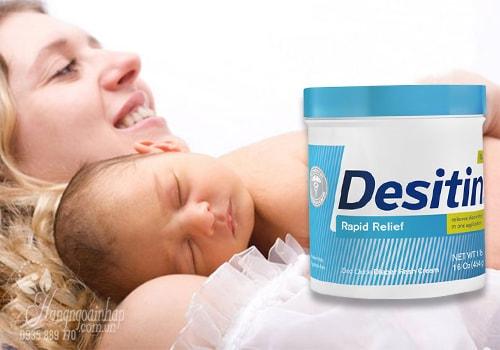 Kem chống hăm cho bé Desitin màu xanh của Mỹ 454g