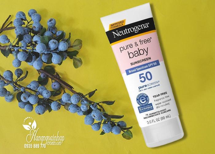 Kem chống nắng cho trẻ Neutrogena Pure & Free Baby Sunscreen spf50