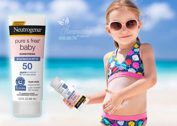 Kem chống nắng cho trẻ Neutrogena Pure & Free Baby Sunscreen spf50 của Mỹ