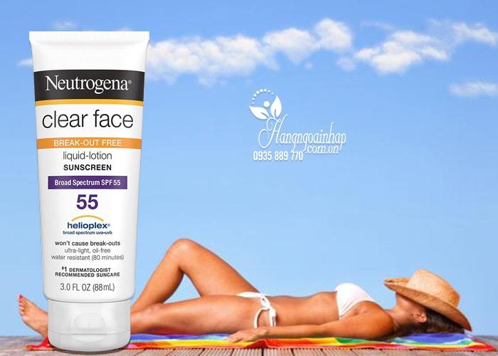 Kem chống nắng Neutrogena Clear Face Sunscreen SPF 55