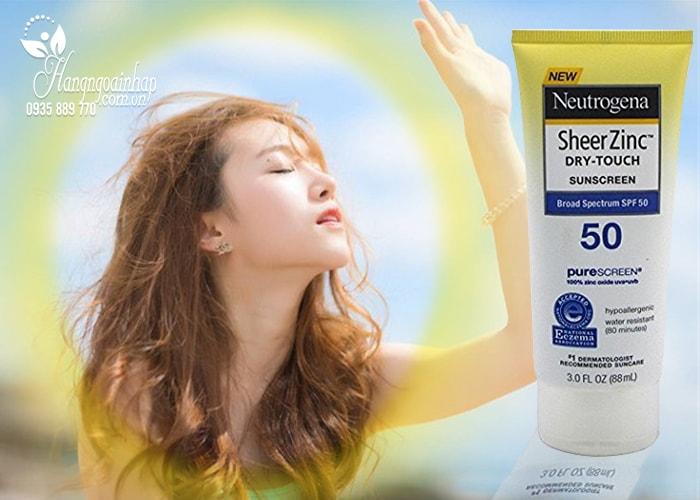 Kem chống nắng Neutrogena Sheer Zinc Dry-Touch Sunscreen SPF 50 88ml của Mỹ