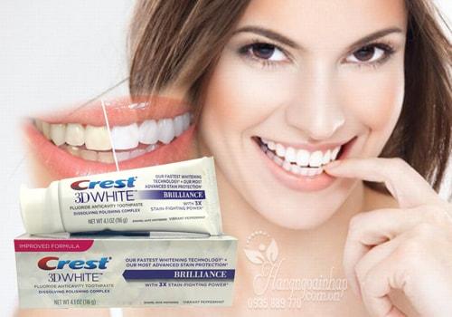 Kem đánh răng 3D Crest White Brillance của Mỹ