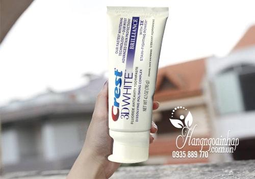 Kem đánh răng 3D Crest White Brilliance 116g của Mỹ