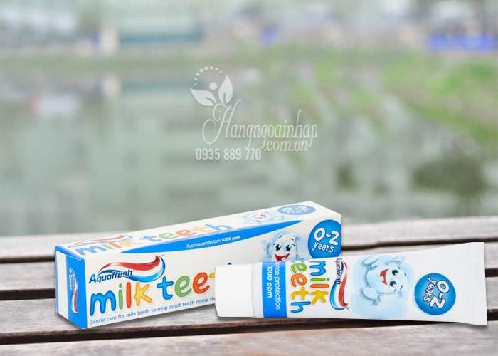 Kem đánh răng Aquafresh Milk Teeth 50ml cho trẻ từ 0-2 tuổi