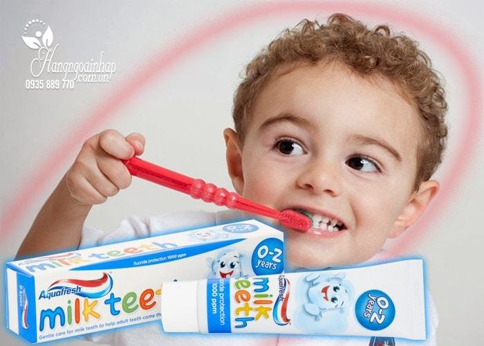 Kem đánh răng Aquafresh Milk Teeth 50ml cho trẻ từ 0 đến 2 tuổi