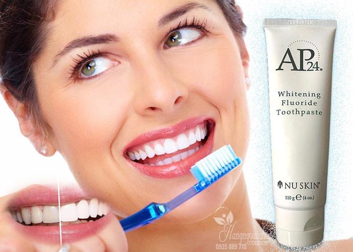 Kem đánh trắng răng Nuskin AP24 - Whitening Fluoride Toothpaste 110g của mỹ