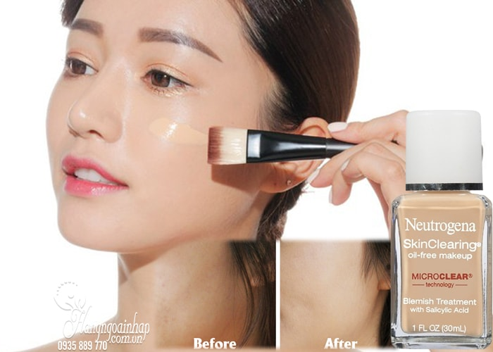 Kem nền cho da mụn Neutrogena SkinClearing Oil-free Makeup 30ml của Mỹ