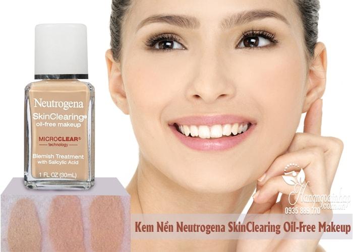 Kem nền cho da mụn Neutrogena SkinClearing Oil-free Makeup của Mỹ