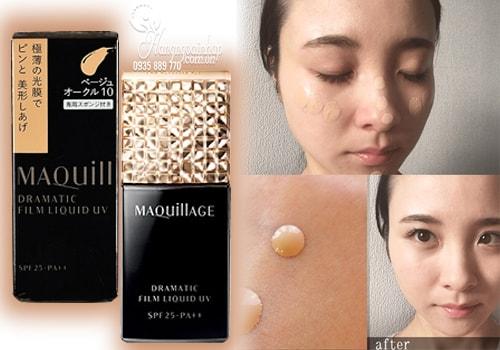 kem nền lâu trôi shiseido maquillage true liquid uv