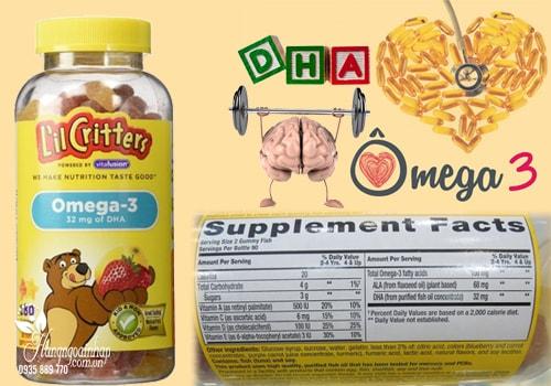 Omega-3 DHA Gummy Fish Kẹo Dẻo Bổ Sung Vitamin