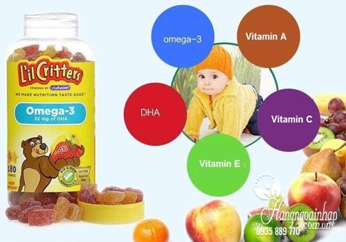 Omega-3 DHA Gummy Fish Kẹo Dẻo Bổ Sung Vitamin cho trẻ nhỏ