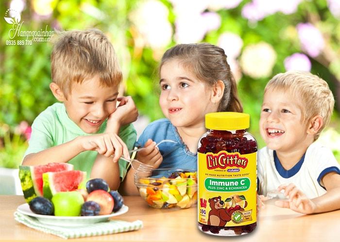 Kẹo dẻo bổ sung vitamin C L'IL Critters immune C 190 viên của Mỹ