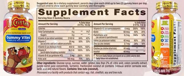 Gummy Vites Kẹo Dẻo Bổ Sung Vitamin Cho Trẻ