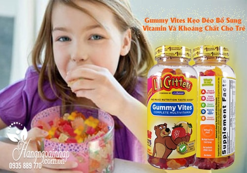 Gummy Vites Kẹo Dẻo Bổ Sung Vitamin Và Khoáng Chất Cho Trẻ 275 Viên