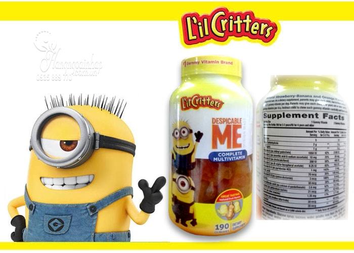 Kẹo dẻo cho bé L'il Critters Minions Multivitamins Gummies 190 viên của Mỹ