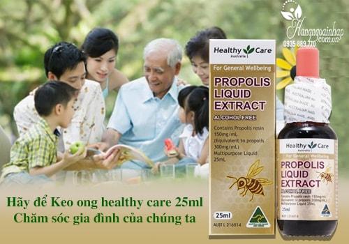 Keo ong Healthy Care Propolis Liquid Extract của Úc