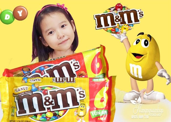 Kẹo Socola M&M Fun Size 106g của Mỹ