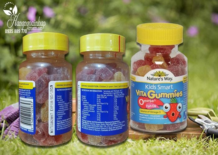 Nature's Way Kids Smart Vita Gummies Omega 3 Fish Oil 60 viên của Úc