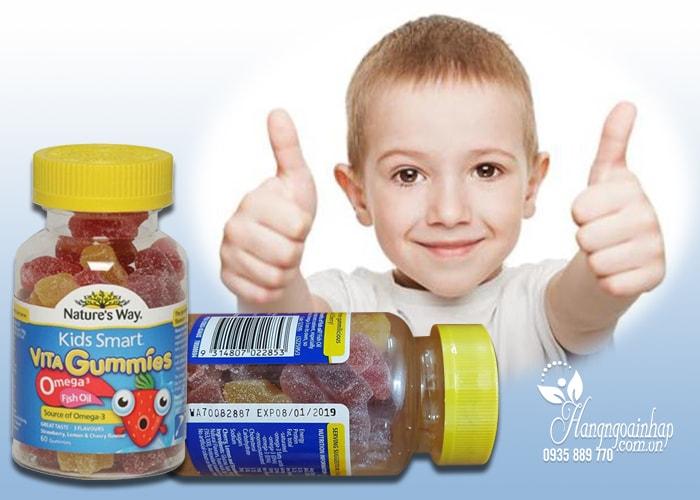 Nature's Way Kids Smart Vita Gummies Omega 3 Fish Oil của Úc