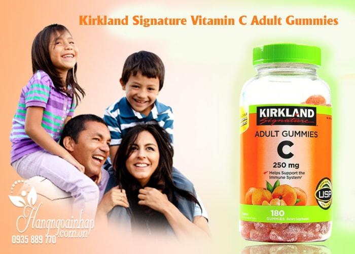Kẹo dẻo bổ sung Vitamin C Kirkland Adult Gummies C 250mg 180 viên của Mỹ