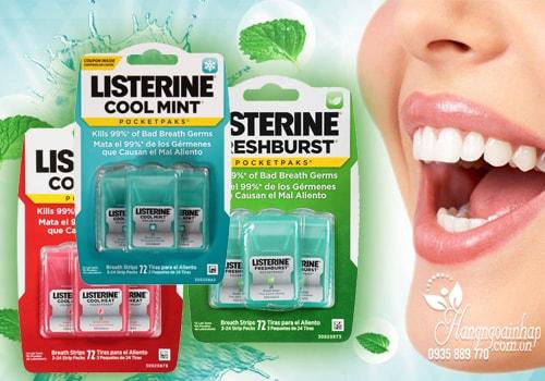Miếng ngậm thơm miệng, diệt khuẩn Listerine