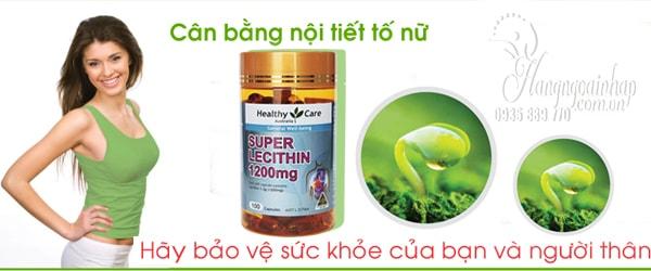 Mầm đậu nành Super Lecithin Healthy Care 1200mg 100 viên của Úc