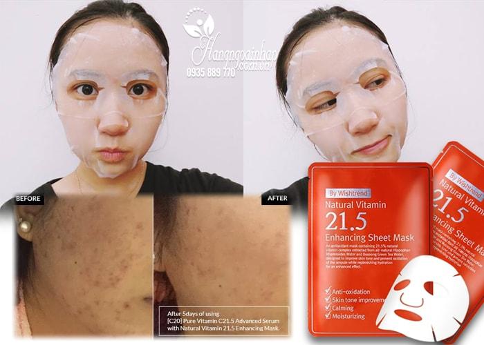 Mặt nạ Natural Vitamin 21.5 Enhancing Sheet Mask Hàn Quốc
