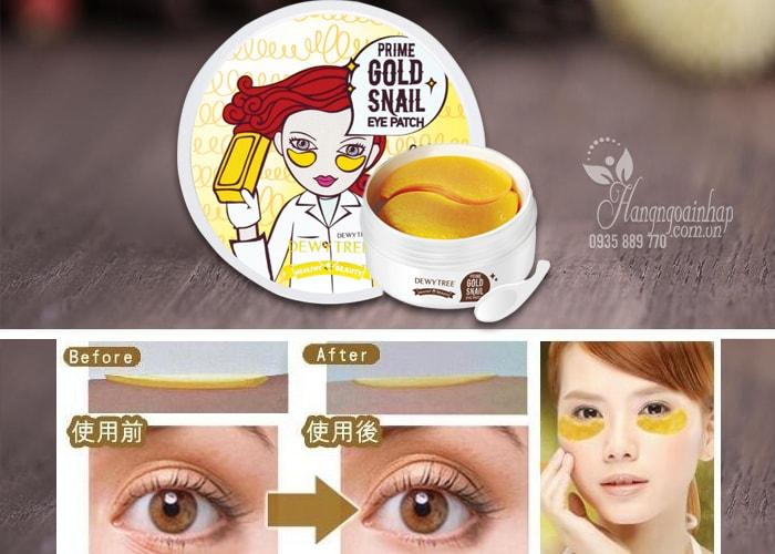 Mặt nạ đắp mắt Prime Gold Snail Eye Patch Hàn Quốc 90g