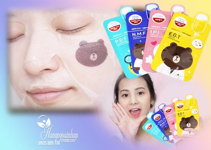 Mặt nạ giấy dưỡng trắng da Mediheal Line Friends Hàn Quốc