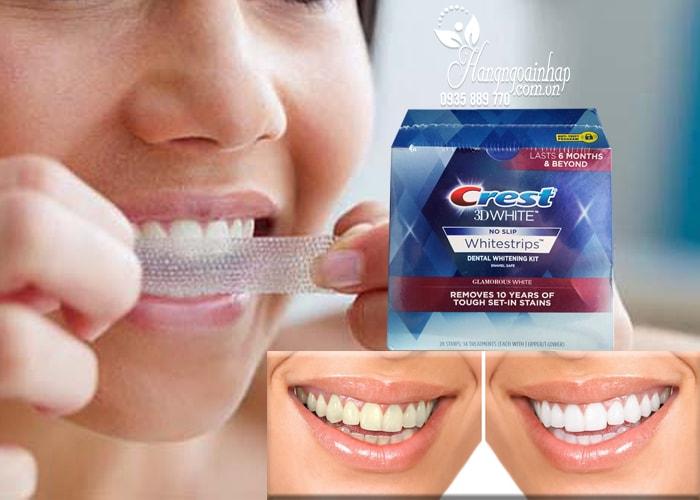 Miếng dán trắng răng Crest 3D White No Slip Whitestrips