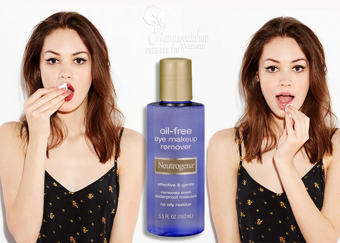 Nước tẩy trang mắt môi Neutrogena Oil-Free Eye Makeup Remover 162ml của Mỹ