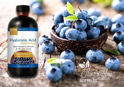 Neocell Hyaluronic Acid Blueberry Liquid 473ml  Nước Uống Bổ Sung HA Chiết Xuất Từ Quả Việt Quất