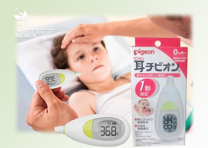 Nhiệt kế đo tai cho bé Pigeon Nhật Bản, hàng xách tay