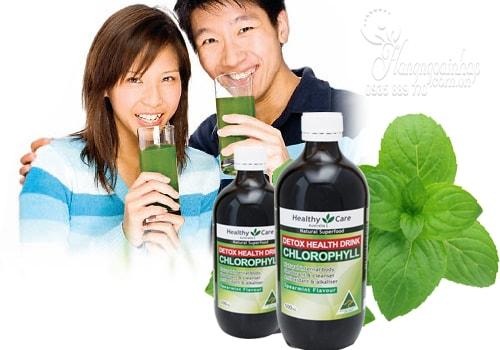 Nước diệp lục Healthy Care Chlorophyll Detox Drink 500ml của Úc