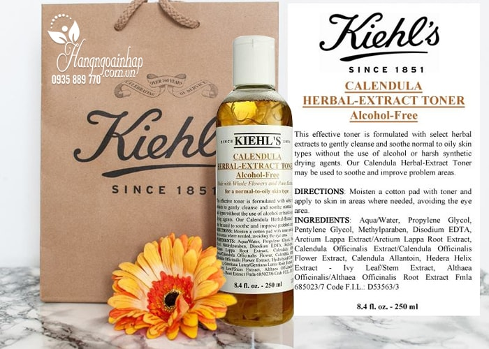 Nước hoa hồng Kiehl's Calendula Herbal Extract Alcohol-Free 250ml