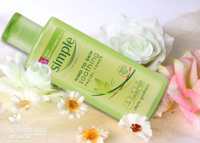 Nước hoa hồng Simple Soothing Facial Toner 200ml của Anh