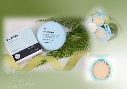 Phấn phủ nén kiềm dầu The Face Shop Oil Clear Smooth & Bright Powder