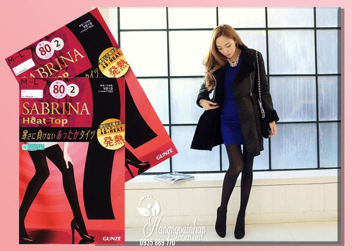 Quần tất sinh nhiệt Sabrina Heat Top 80D của Nhật Bản