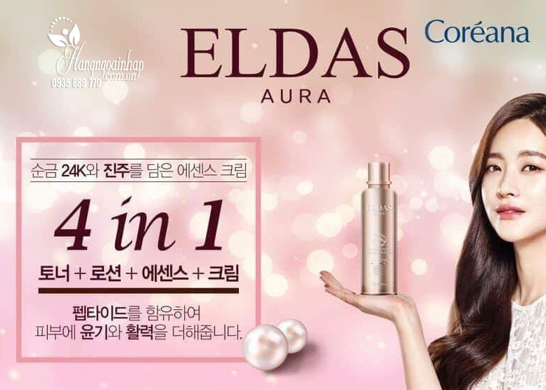 Serum tế bào gốc Eldas Aura Coreana Shine Gold Pearl Premium Peptide
