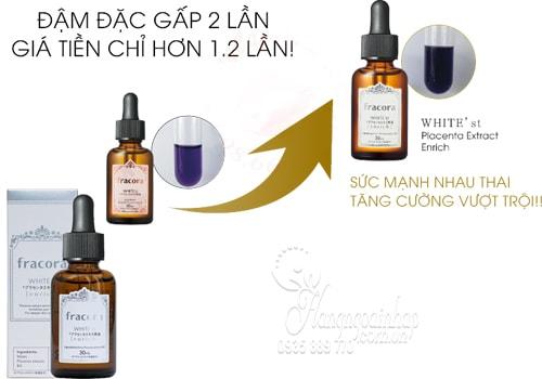 Serum Nhau Thai Fracora White Placenta Extract Enrich 30ml