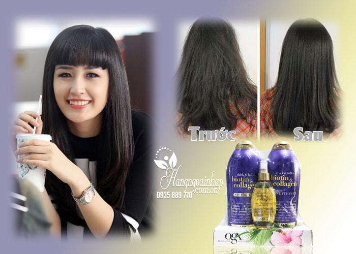 Bộ gội xả OGX Biotin & Collagen tặng kèm xịt dưỡng tóc của Mỹ