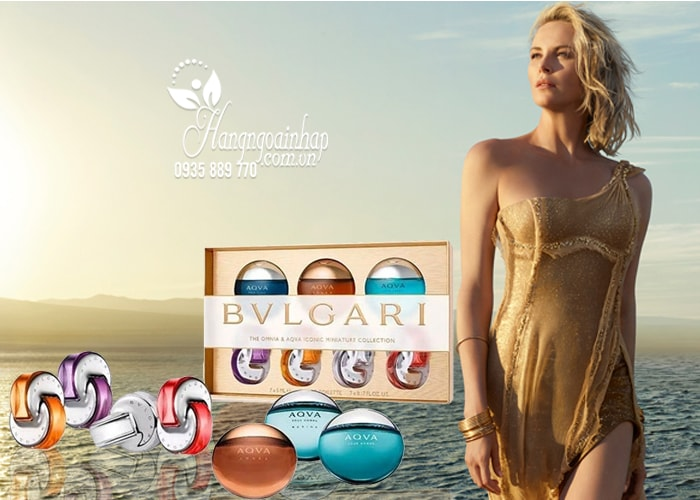 Set nước hoa Bvlgari 7 chai mini 5ml của Ý dành cho nam và nữ