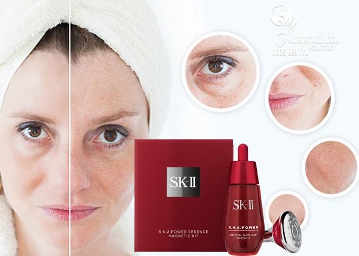 Serum chống lão hóa SK-II R.N.A Essence 50ml kèm gậy Massage