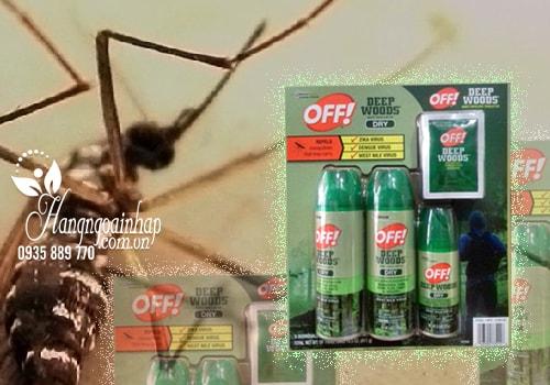 Sét xịt chống muỗi và côn trùng Off Deep Woods Dry
