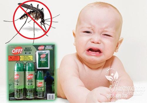 Sét xịt chống muỗi và côn trùng Off Deep Woods Dry của Mỹ