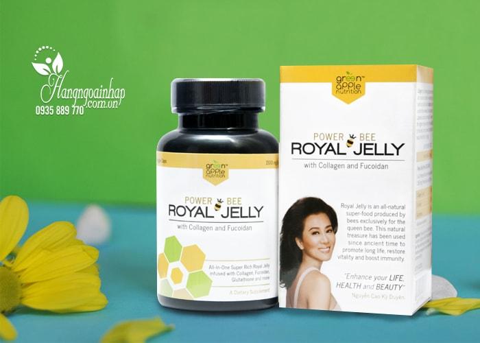 Sữa ong chúa Power Bee Royal Jelly 1500mg 60 viên của Mỹ