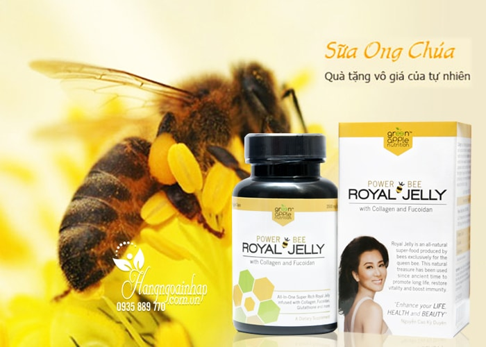 Sữa ong chúa Power Bee Royal Jelly 1500mg 60 viên