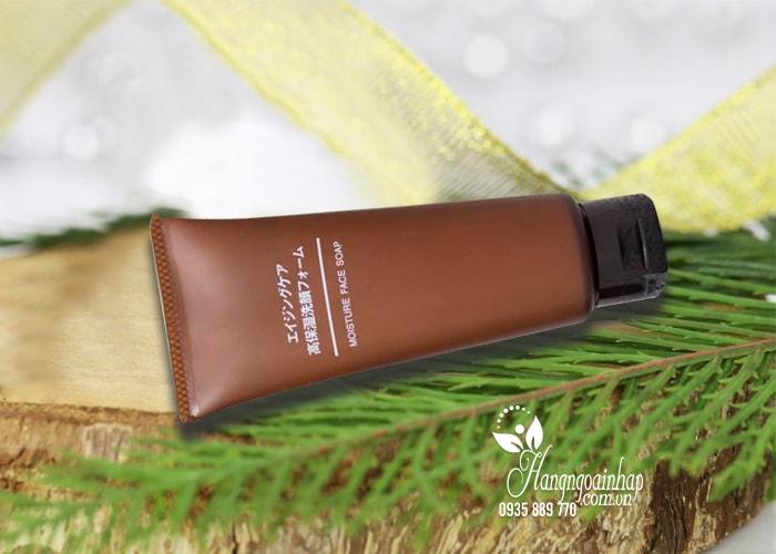 Sữa rửa mặt chống lão hóa Muji Moisture Face Soap 100g của Nhật Bản